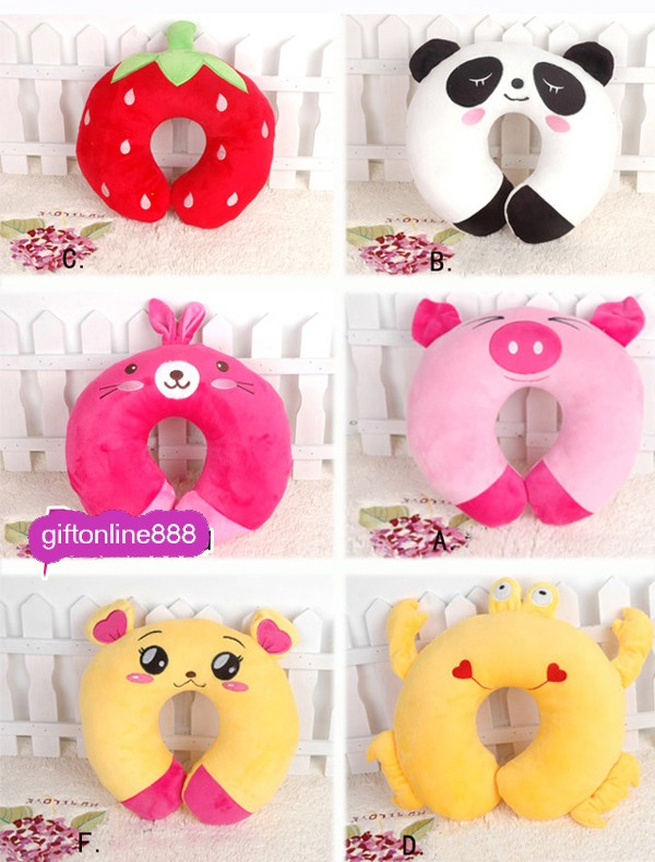 Cute Animal Shaped Pillows : Cute Cartoon U-shaped Pillow/Travel Pillow/U-car Pillow/U-shaped Neck Pillow eBay