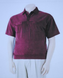 Nwt 45 Classics By Palmland Solid Banded Bottom Polo