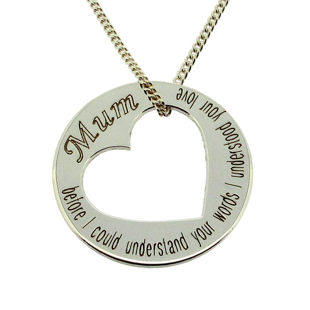 solid 925 sterling silver personalized mothers disc