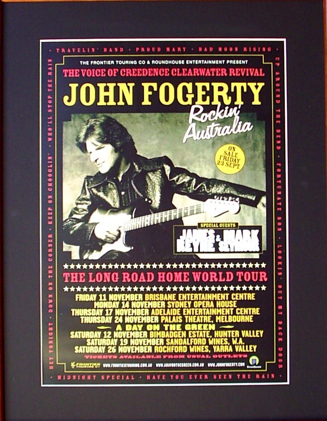 JOHN-FOGERTY-2005-Australian-Tour-Poster-Matted-and-Ready-For-Framing