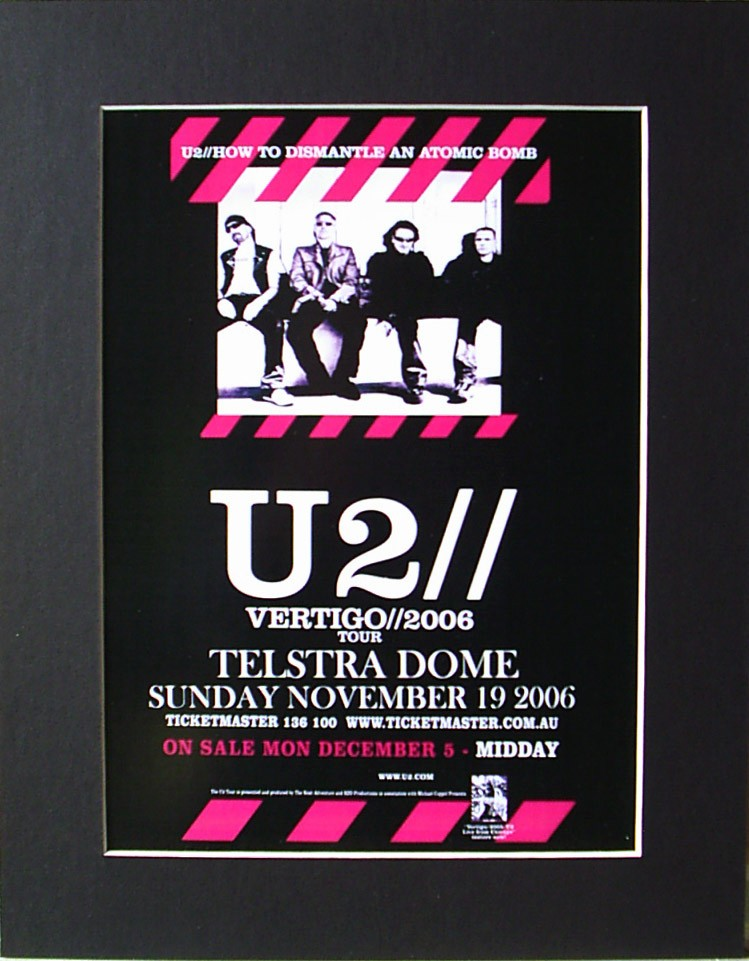 U2-06-VERTIGO-Australian-Melb-Tour-Poster-Ready-For-Framing