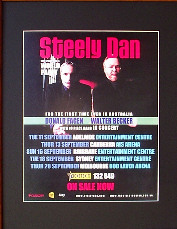 STEELY-DAN-2007-Australian-Tour-Poster-Matted-and-Ready-For-Framing