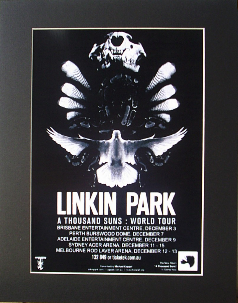 LINKIN-PARK-2010-Australian-Tour-Poster-Ready-For-Framing
