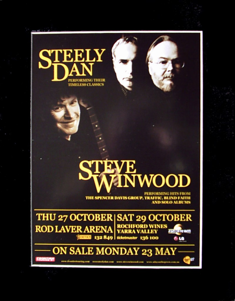STEELY-DAN-STEVE-WINWOOD-2011-Australian-Tour-Poster-Ready-For-Framing
