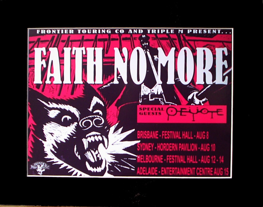 FAITH-NO-MORE-95-Australian-Tour-Poster-Ready-for-Framing
