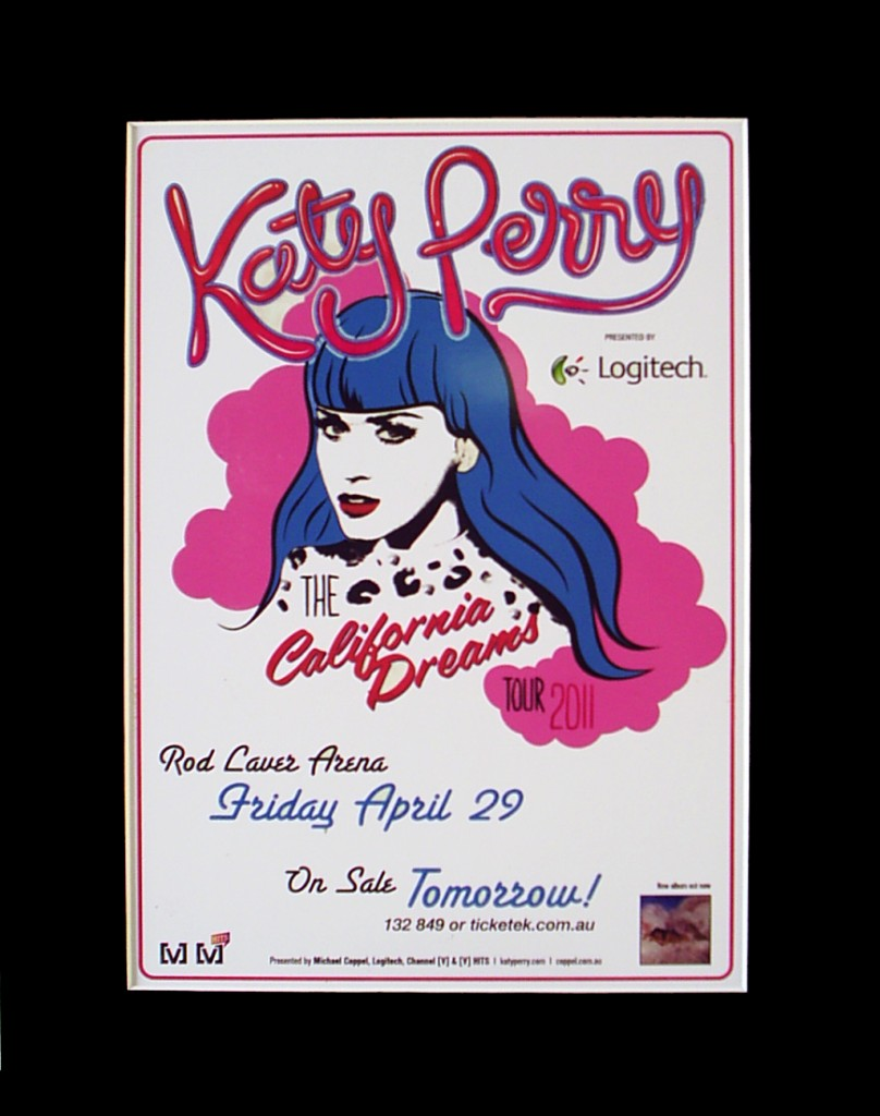 KATY-PERRY-2012-Australian-Tour-Poster-Ready-for-Framing