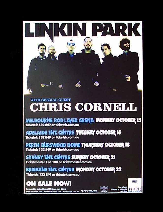 LINKIN-PARK-2007-Australian-Tour-Poster-Ready-for-Framing