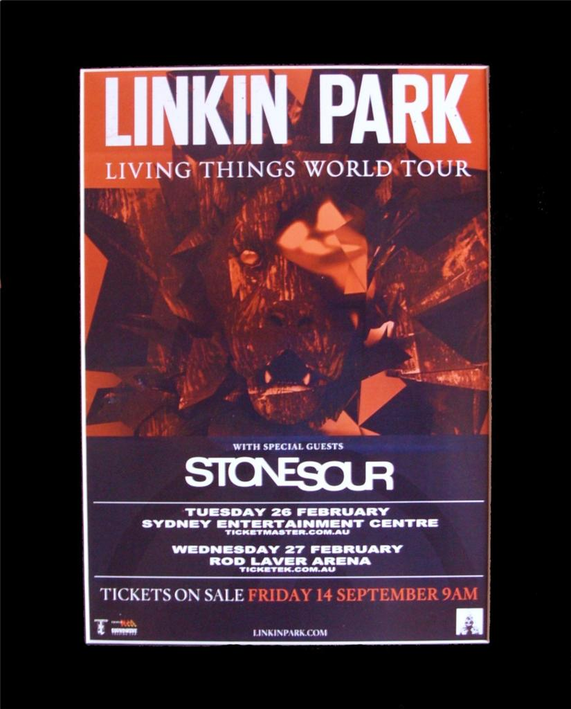 LINKIN-PARK-2013-Australian-Tour-Poster-Ready-for-Framing
