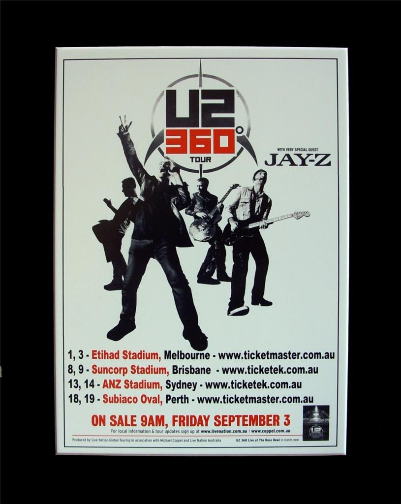 U2-2010-Australian-Tour-Poster-Ready-for-Framing