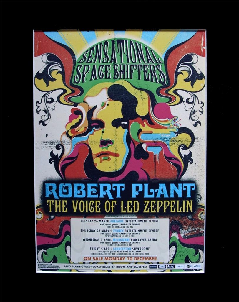 ROBERT-PLANT-2013-Australian-Tour-Poster-Matted-and-Ready-for-Framing