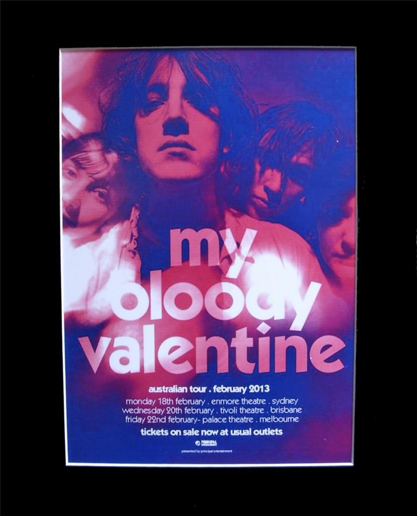 MY-BLOODY-VALENTINE-2013-Australian-Tour-Poster-Matted-ready-for-Framing