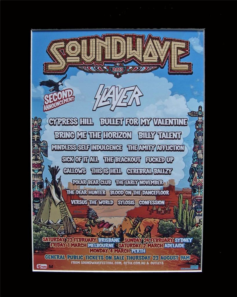 SOUNDWAVE-2013-Slayer-Poster-Matted-Ready-For-Framing