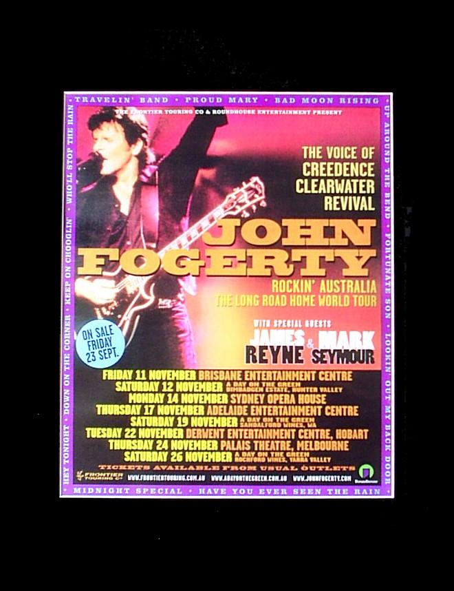JOHN-FOGERTY-2005-2-Australian-Tour-Poster-Matted-ready-for-Framing