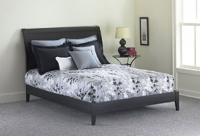Platform  Full on Full Size Java Platform Bed   Black   Ebay
