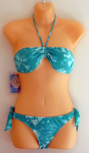 RIP-CURL-Bikini-Bandeau-Blue-Tie-Dye-Swimsuit-Womens-Ladies-Size-10-BNWT-NEW
