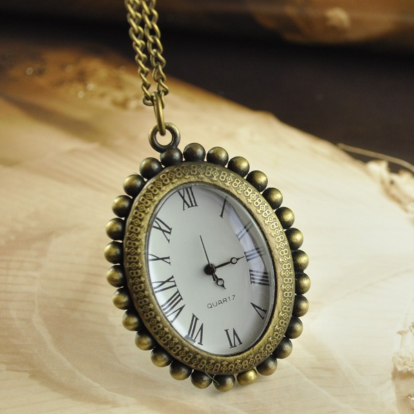 Retro-Vintage-Mens-Ladies-Womens-Pendant-Necklace-Pocket-Watch-With-Free-Chain