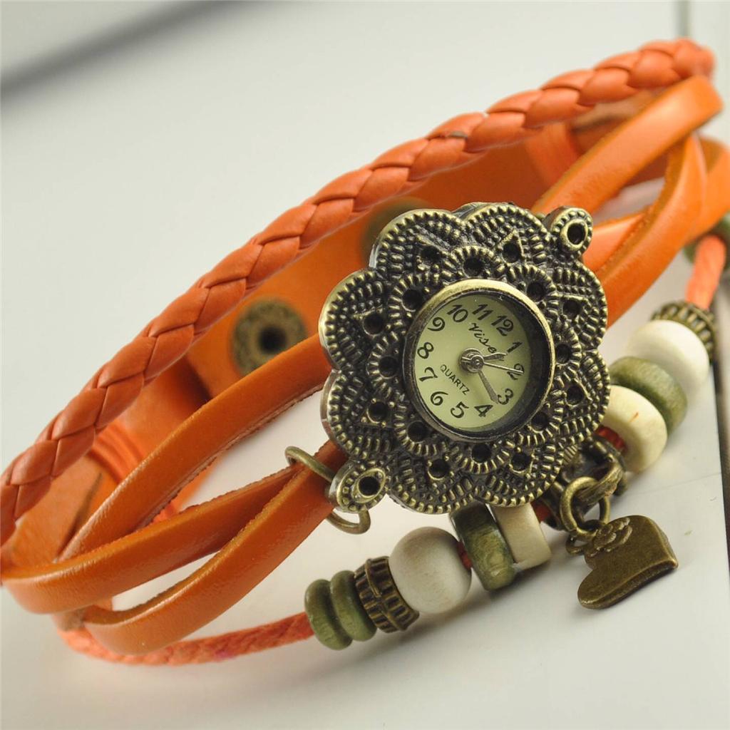 Italian-Charm-Style-Vintage-Handmade-Leather-Ladies-Womens-Bracelet-Wrist-Watch