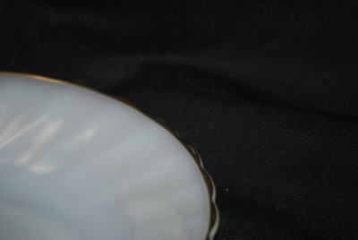 Fire King Suburbia Shell Milk Glass Cereal Bowl