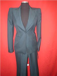 ANNE KLEIN PANT SUIT/PEACOCK GREEN/SIZE12/$280/INSEAM 32/MODERN FIT