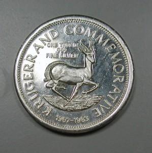 1 Troy Ounce 999 Fine Silver Ounce Krugerrand