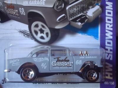 Hot Wheels 2013 New HW Showroom Series Grey 55 Chevy Bel Air Gasser