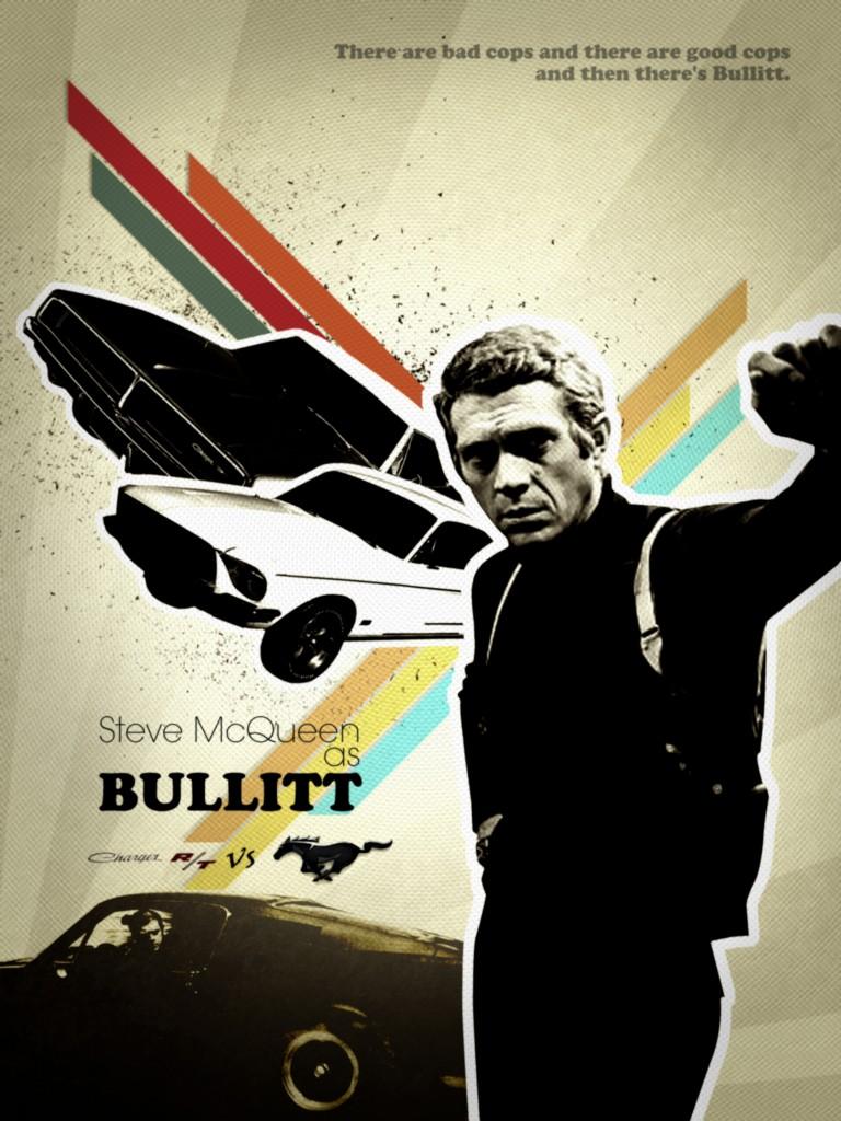 Bullitt 8x10 11x17 16x20 24x36 27x40 Movie Poster Vintage ...