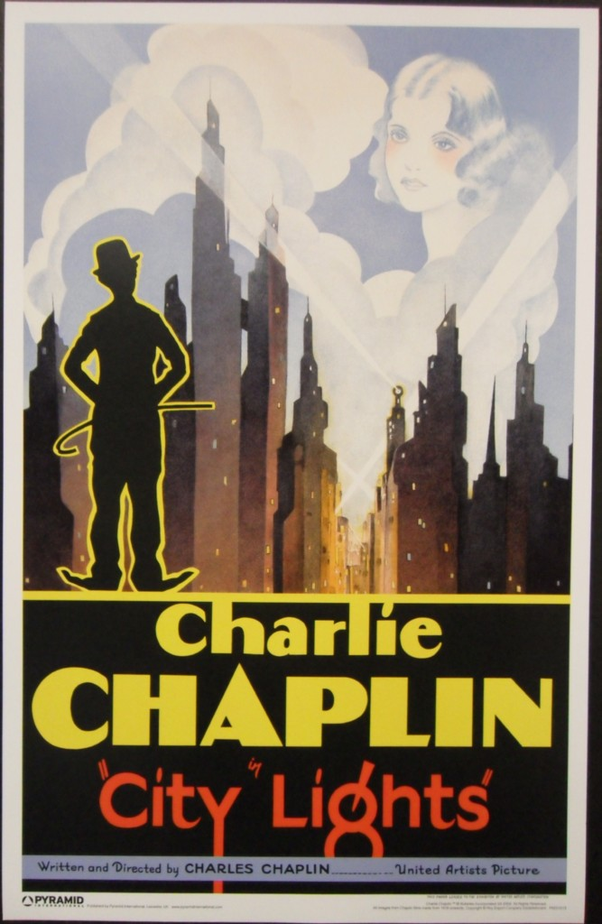 city lights 8x10 11x17 16x20 24x36 27x40 movie poster vintage charles chaplin b ebay. Black Bedroom Furniture Sets. Home Design Ideas