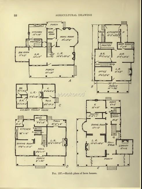 Barn poultry farm building plans dairy house stables cd for Farm barn plans