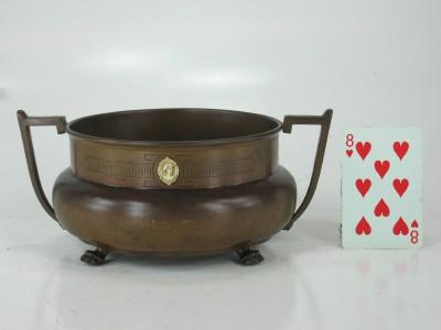 Bronze Cameo Bowl Greek Style Benedict Athenic Arts