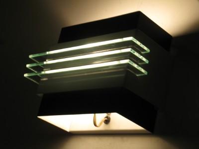 1 STREAMLINE DECO STYLE MODERN WALL SCONCES LIGHTS VINTAGE RETRO eBay