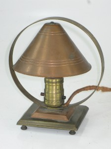 Arts Crafts Copper Desk Table Lamp Night Light Art Deco EBay