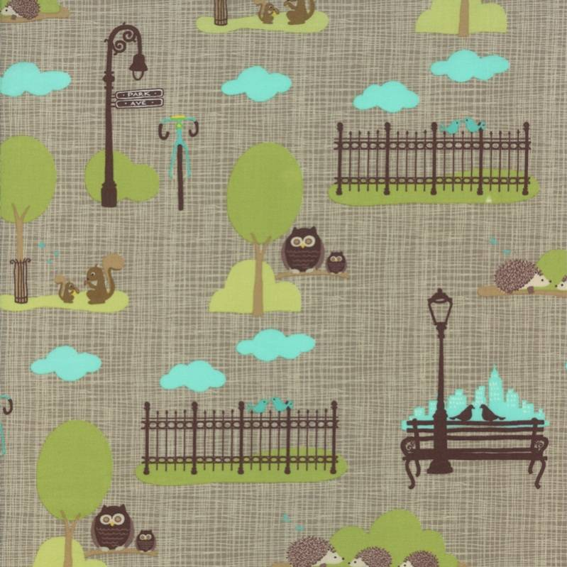 Moda Fabric ~ Bluebird Park  ~1//2 yard ~ Lamp Post # 13102 16~100/% Cotton