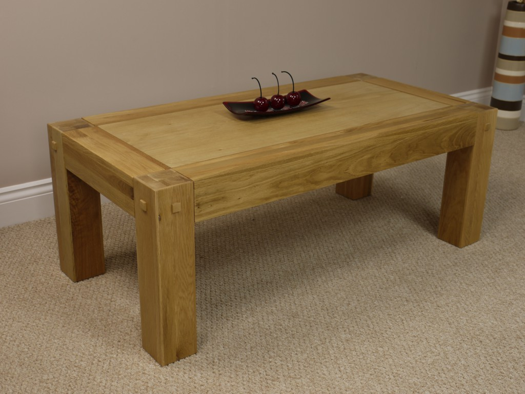 Brittany Super Chunky Oak Large Coffee Table Solid Wood Amazing Value