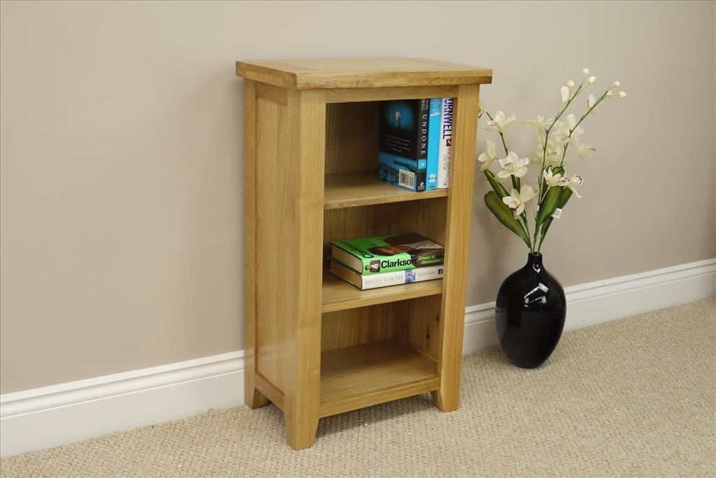 Chelsea Oak Small Narrow Bookcase Shelving Storage Unit