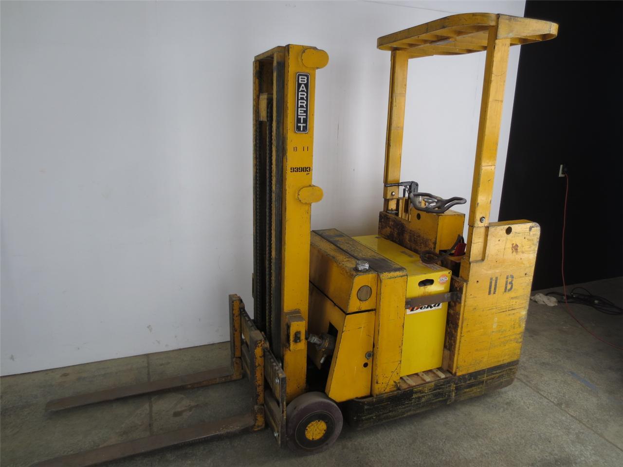 Barrett 24 Volt Stand Up Electric Forklift Ebay
