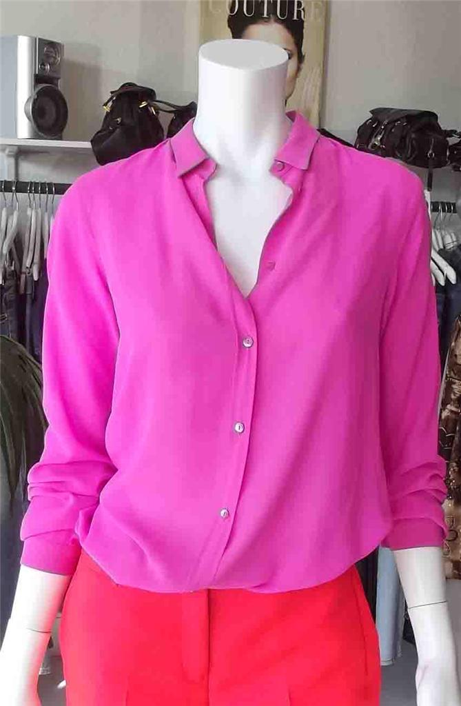 Neon Pink Chiffon Blouse 85