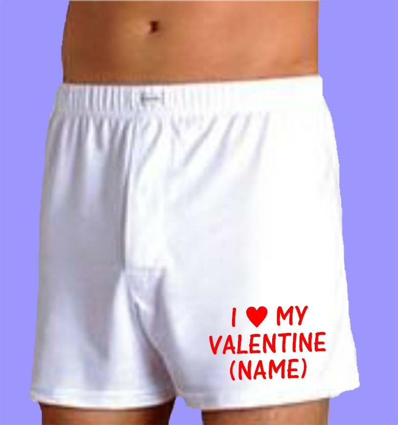 MENS I LOVE (NAME) PERSONALISED BOXER SHORTS BOXERS VALENTINES DAY