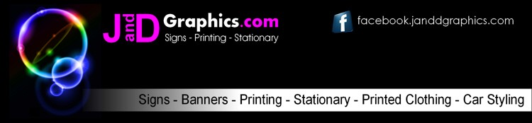 J and D Graphics - Printing - Banners - T-Shirts - Knickers - Boxer Shorts