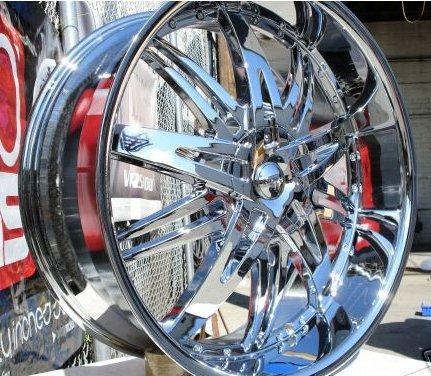 Wheel + Tire Packages 26 inch Triple chrome rims H7