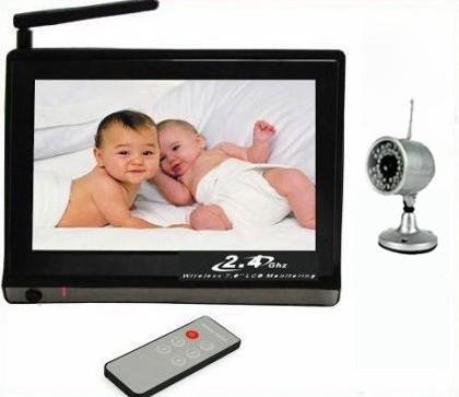 7 baby monitor 2 4g wireless dvr home security cctv video system 1 ir c. Black Bedroom Furniture Sets. Home Design Ideas