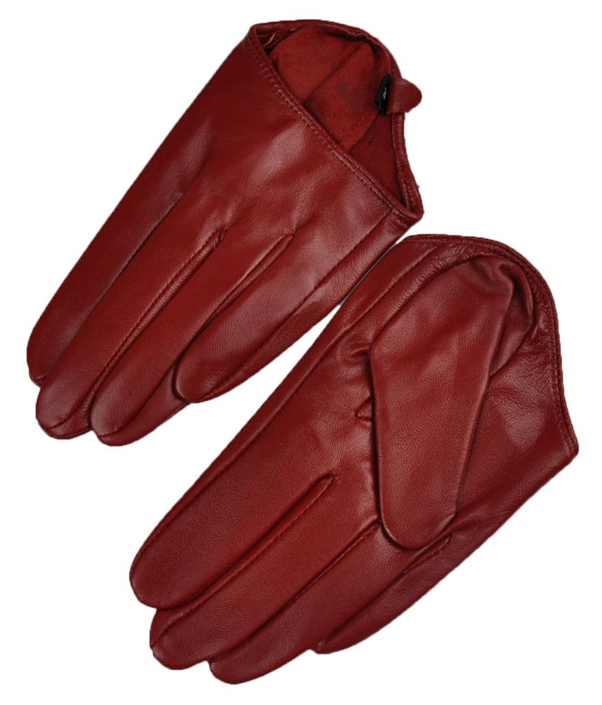 Black leather gloves with coloured fingers - We Accept Paypal Only