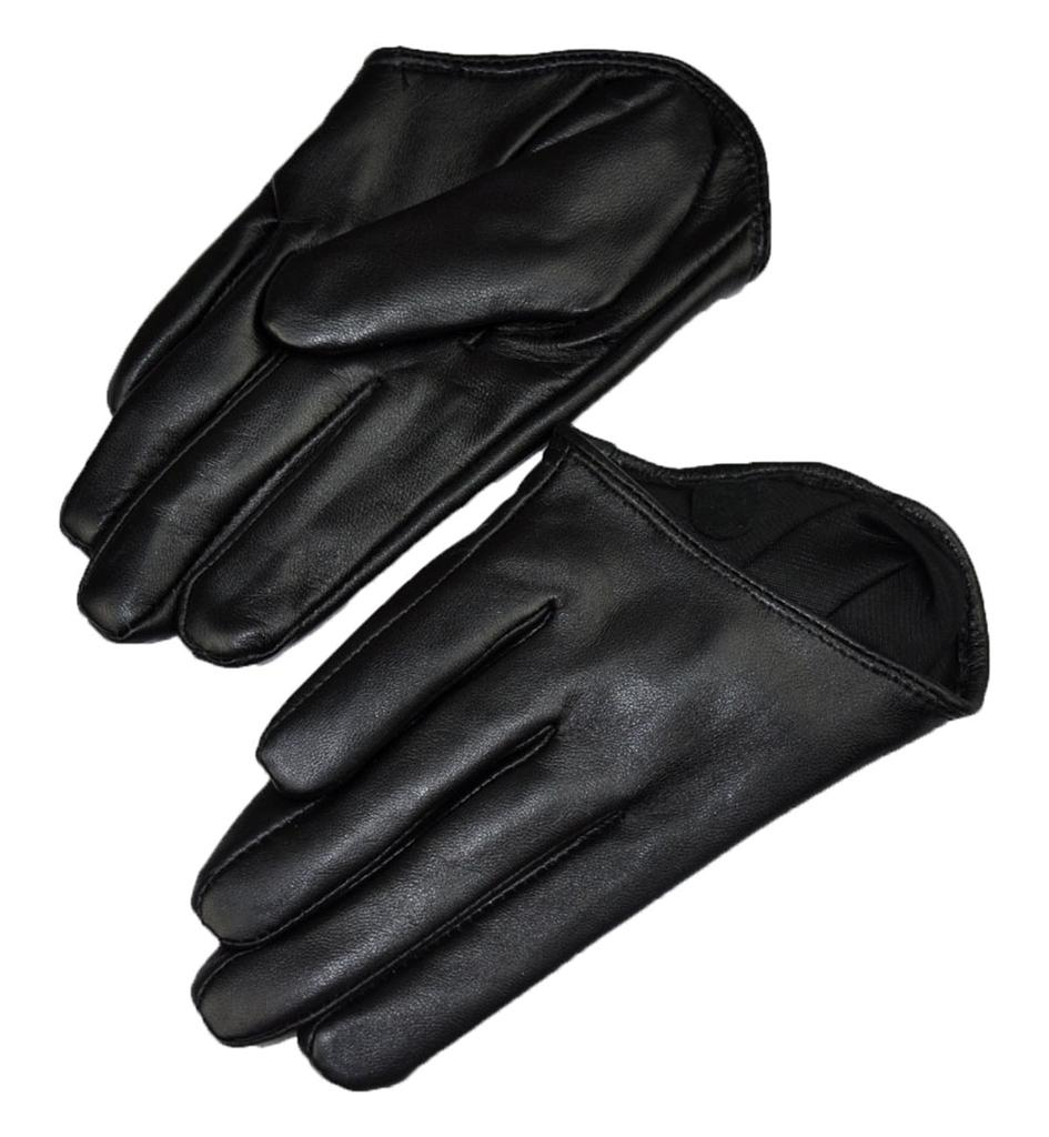 Gloves With Fingertips Out: New Women Fashion Sexy 5 Fingers Half Palm Genuine Leather