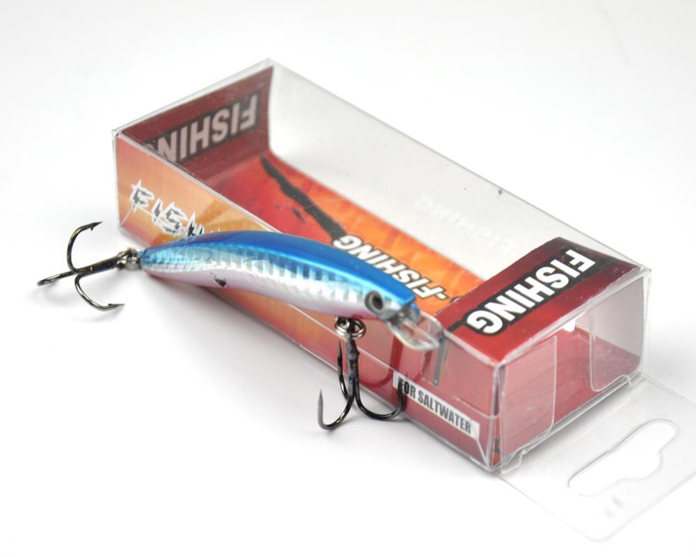 80mm hard fishing lure flat fish pencil spoon tackle bait for Fishing bait box