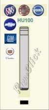 HU100 Key Blank - Opel Vauxhall Buick Chevrolet GM Cadillac