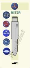 MIT2R Key Blank - Mitsubishi Hyundai Susuki Isuzu Chrysler Chevrolet