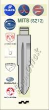 MIT8 (SZ12) Key Blank - Mitsubishi Isuzu Suzuki Chrysler Dodge Berone Eagle Subaru Holden