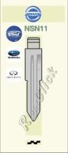 NSN11 Key Blank - Nissan Ford Subaru Infinity