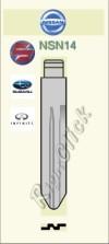 NSN14 Key Blank - Nissan Suzuki Subaru Infinity