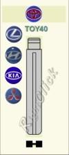 TOY40 Key Blank - Toyota Lexus Hyundia Kia Mitsubishi