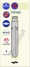 TOY43 Key Blank - Toyota Suzuki Chevrolet Scion